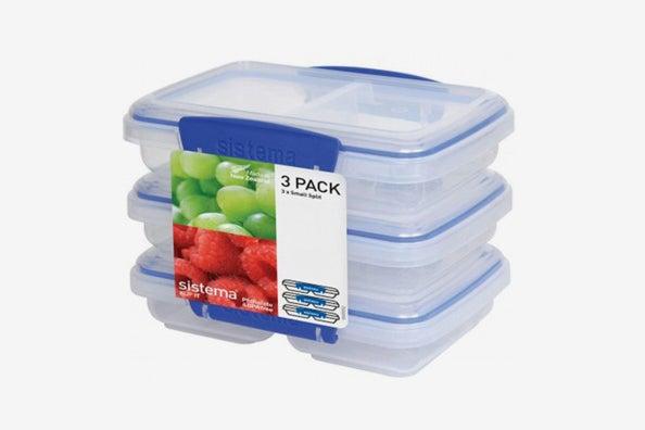 Sistema KLIP IT Rectangular Collection Split Food Storage Container.