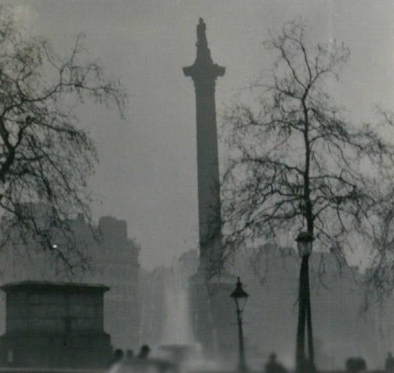 Foggy day in London, December 1952.