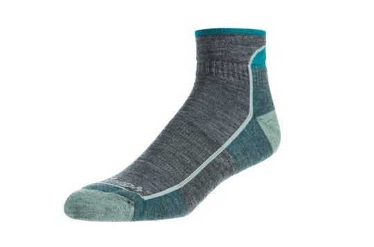 Ankle-length sock.