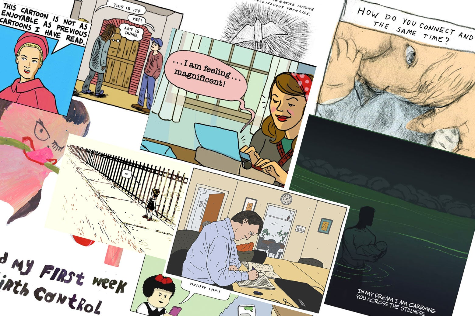 Collage of web comics