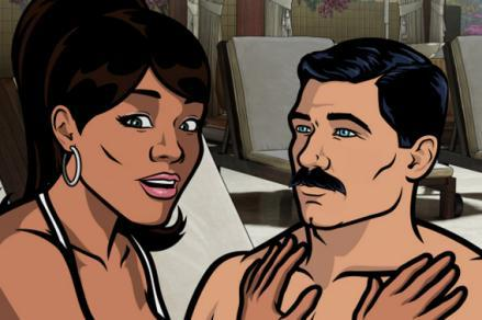 Lana Kane voiced by Aisha Tyler and Sterling Archer voiced by H. Jon Benjamin.