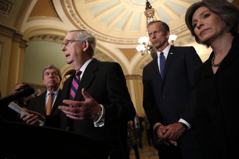 Senate Republican leaders.