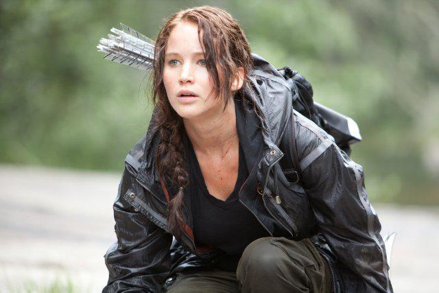 Jennifer Lawrence in Hunger Games.
