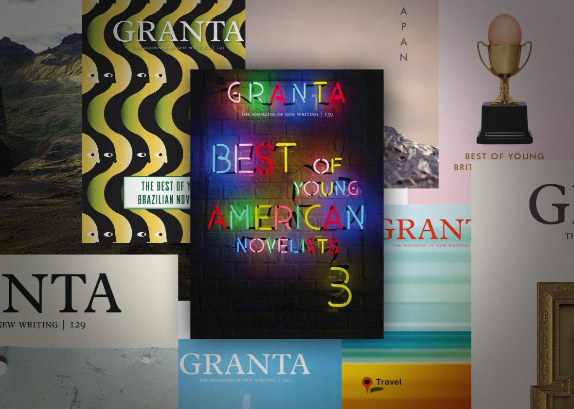 Photo illustration by Slate. Covers by Granta.