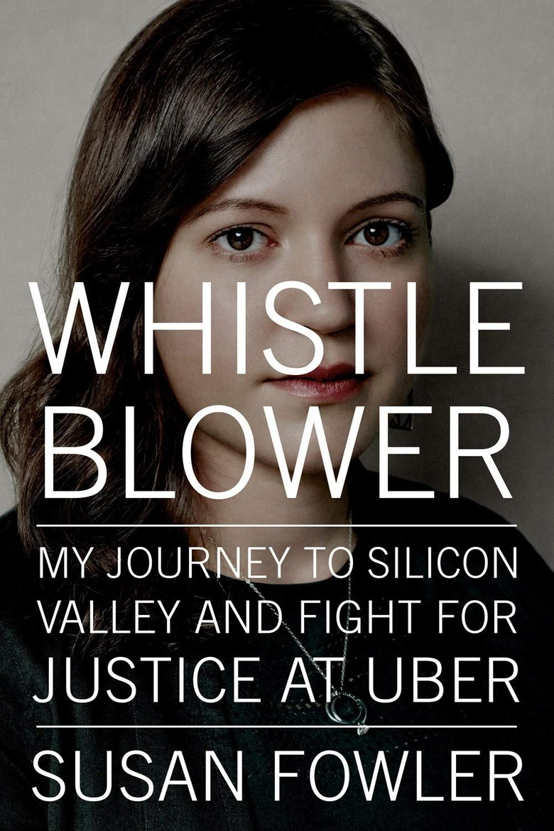 The cover of Whistleblower featuring Susan Fowler