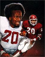 Billy Sims, on canvas (click here to view the slide show)