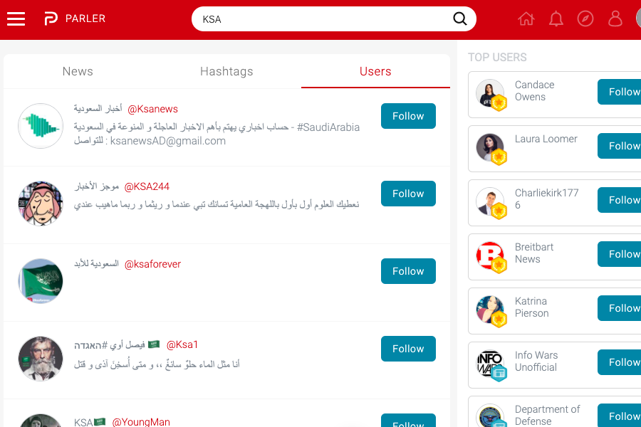 Pro Trump Social Media Site Parler Is Crashed By Thousands Of Saudi Twitter Users
