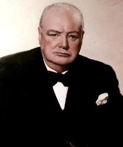 Winston Churchill. Click image to expand.