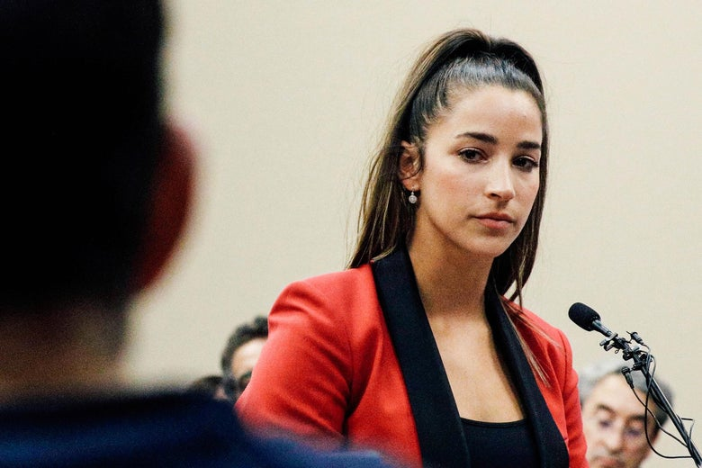 Aly Raisman speaks at the sentencing hearing for Larry Nassar.