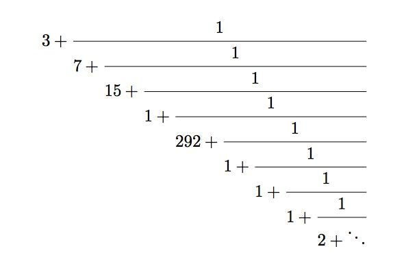 continued fraction pi