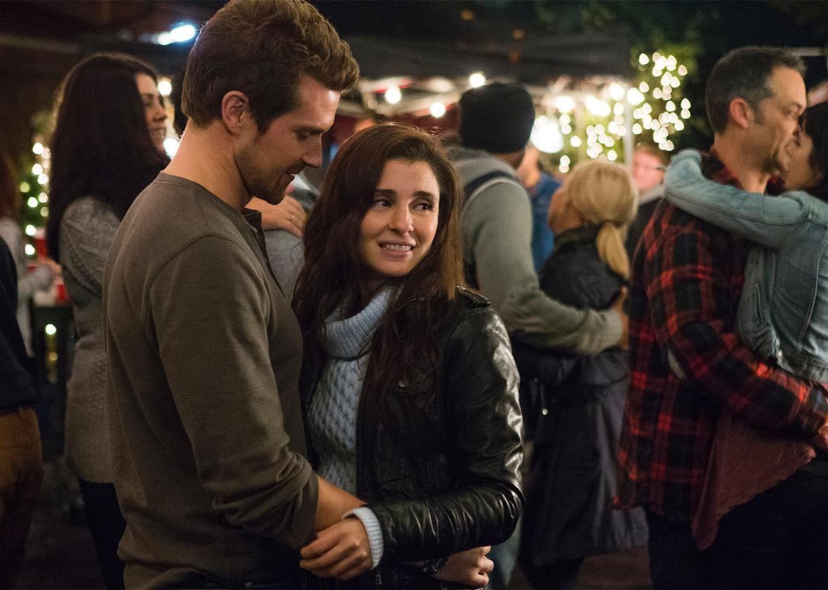 "Josh Kelly (""Jeremy"") and Shiri Appleby (""Rachel"") in UnREAL."