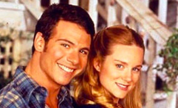 Marcus D'Amico and Laura Linney in Armistead Maupin's Tales of the City