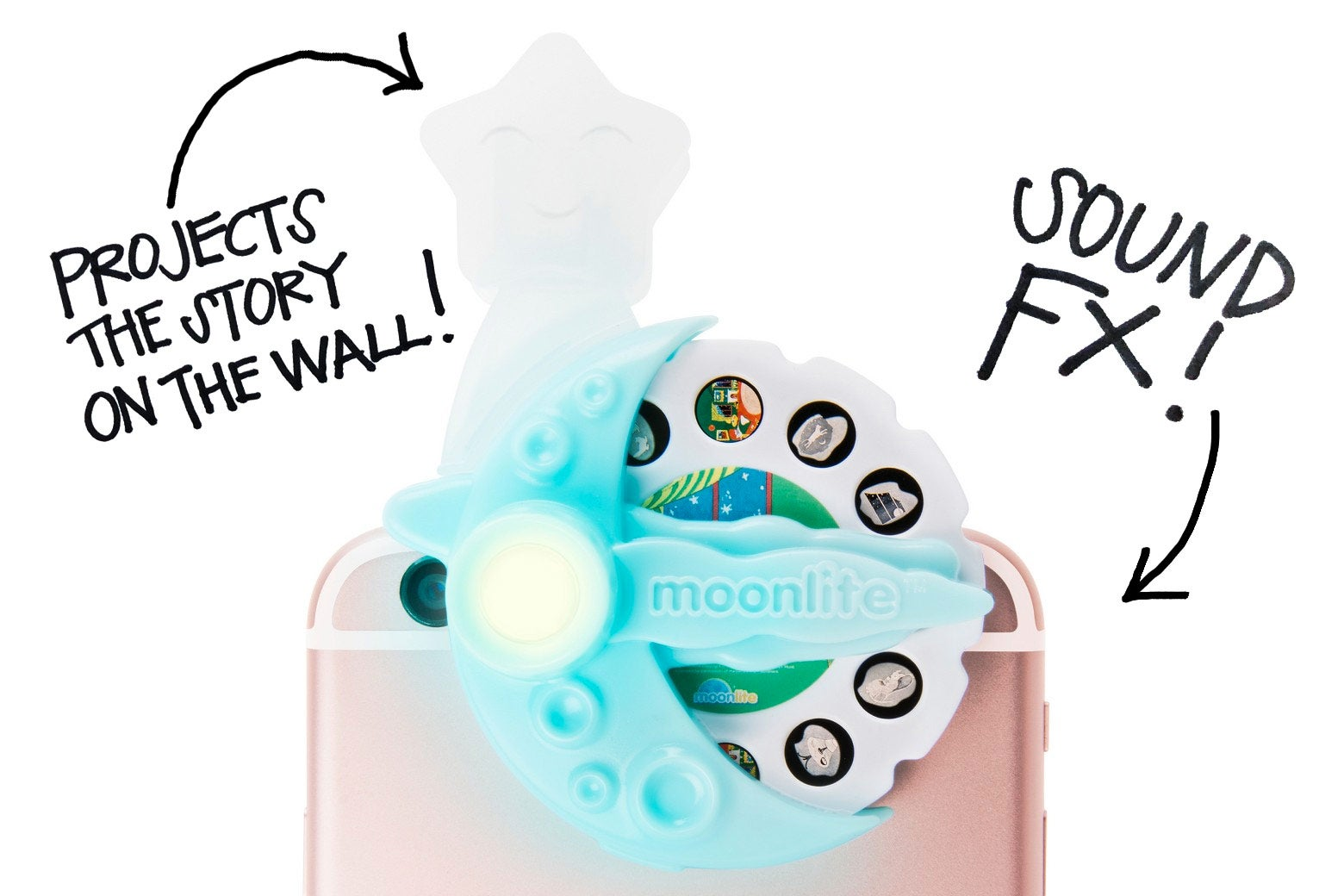 The Moonlite smartphone projector.