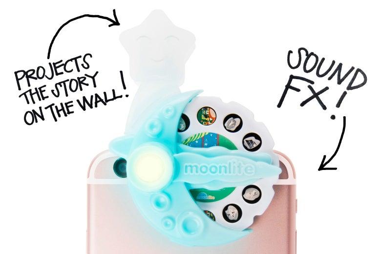 The Moonlite smartphone projector.