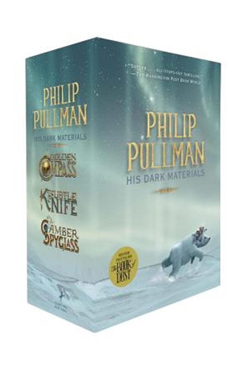 His Dark Materials Trilogy by Philip Pullman.