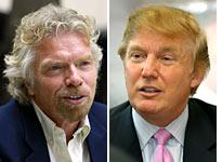 Branson and Trump: Opposites attract to reality TV