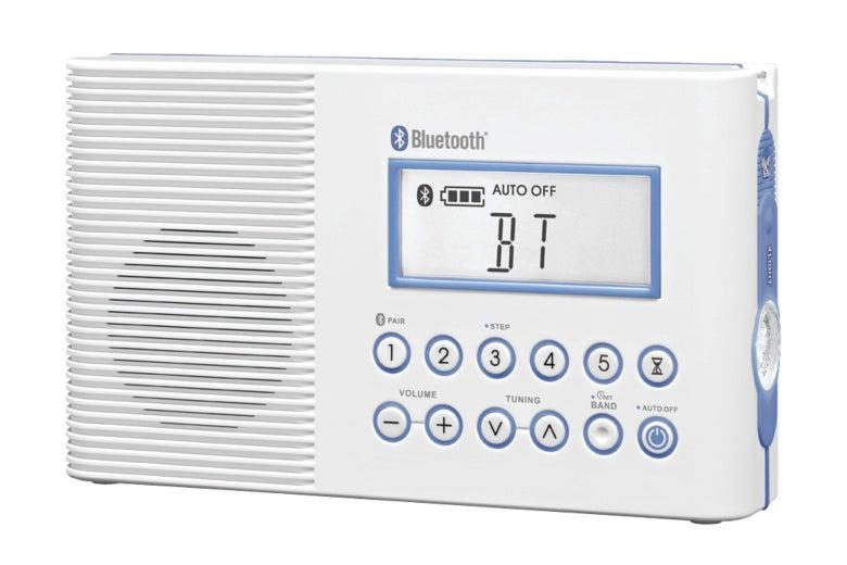 Sangean Portable AM/FM Shower Radio With Bluetooth.