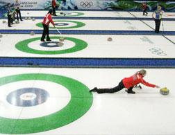 American women at curling practice. Click image to expand.