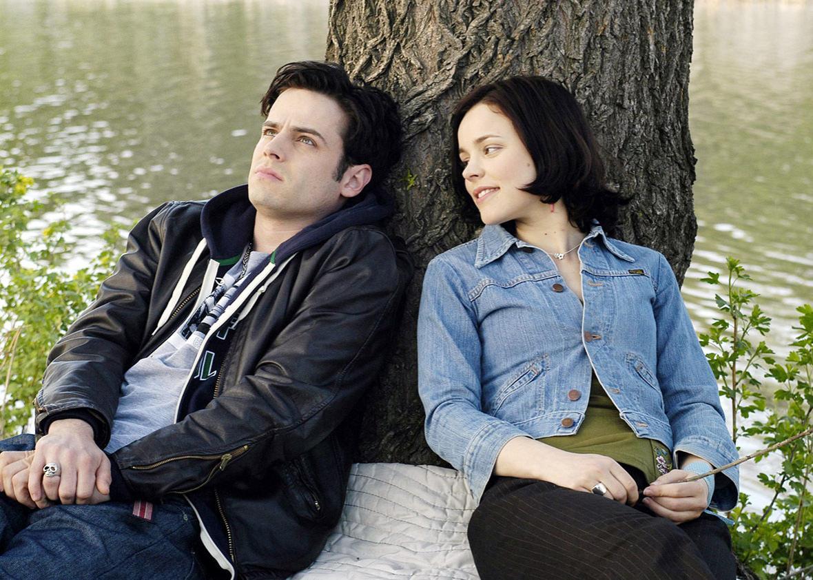 Luke Kirby and Rachel McAdams in Slings and Arrows.