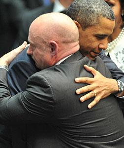 President Obama and Mark Kelly. Click image to expand.