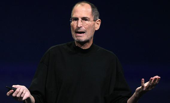Apple CEO Steve Jobs speaks during an Apple Special event.