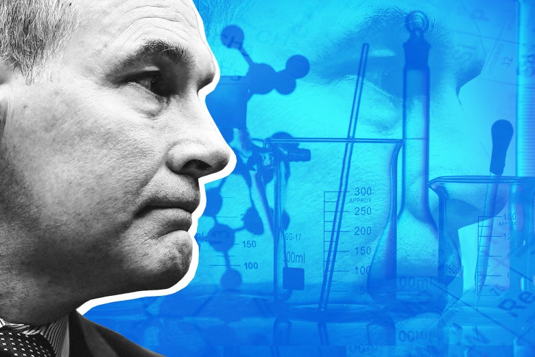 Scott Pruitt and science instruments.