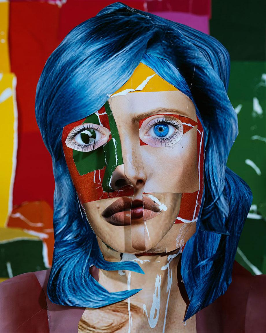 Portrait with Blue Hair, 2013