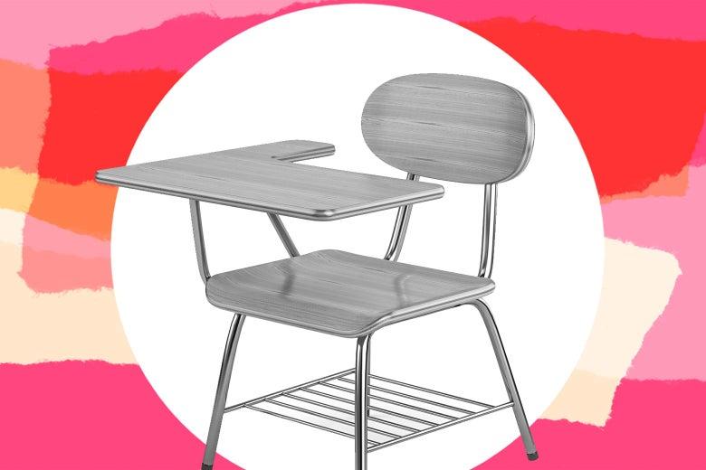 Empty school chair