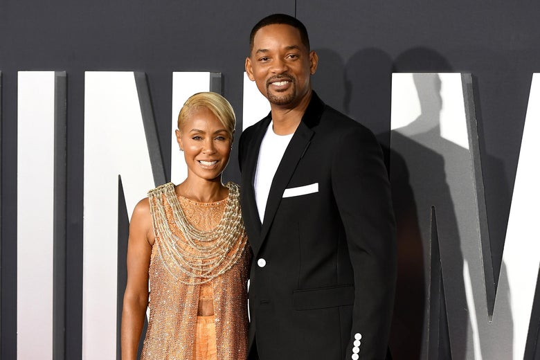 Jada Pinkett Smith and Will Smith on the red carpet for Gemini Man.