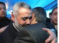 Congratulating senior Hamas leader Ismail Haniya. Click image to expand.