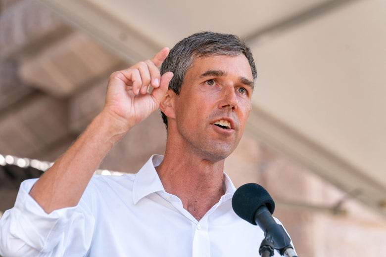 Beto O'Rourke speaks at a rally at the Texas State Capitol on July 31, 2021, in Austin, Texas.