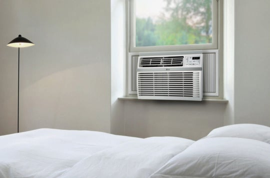 LG Window-Mounted Air Conditioner in a window.
