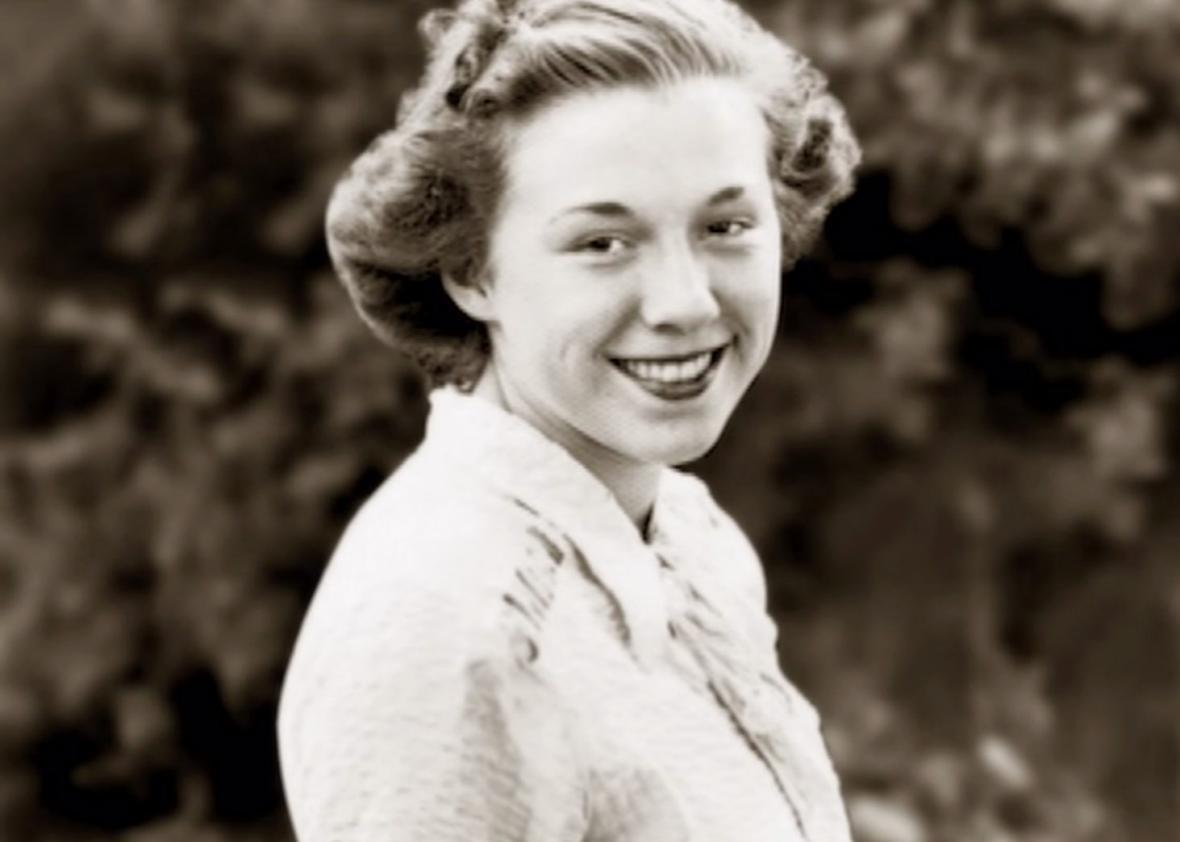 A photo of Hillary Clinton's mother, Dorothy, featured in one of Clinton's new campaign ads.