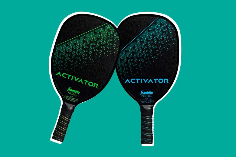 Two pickleball paddles