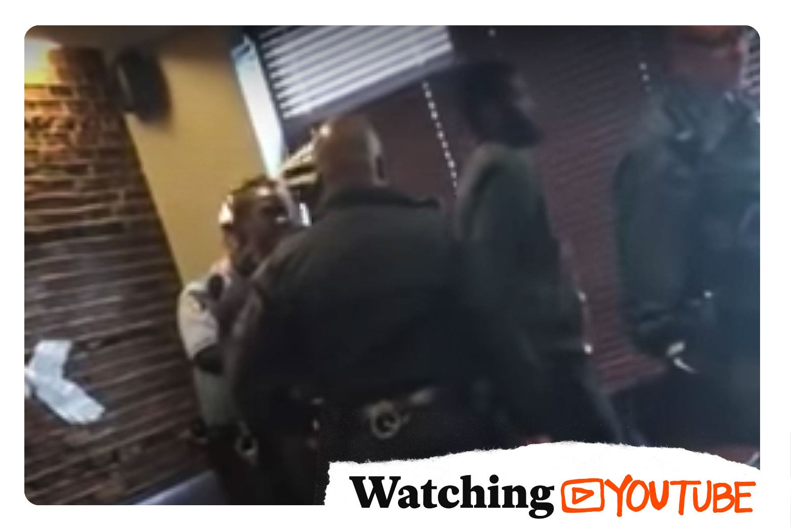Photo illustration by Slate. Screen grab of the Starbucks incident from YouTube.