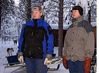 Lennart and Anders watching reindeer