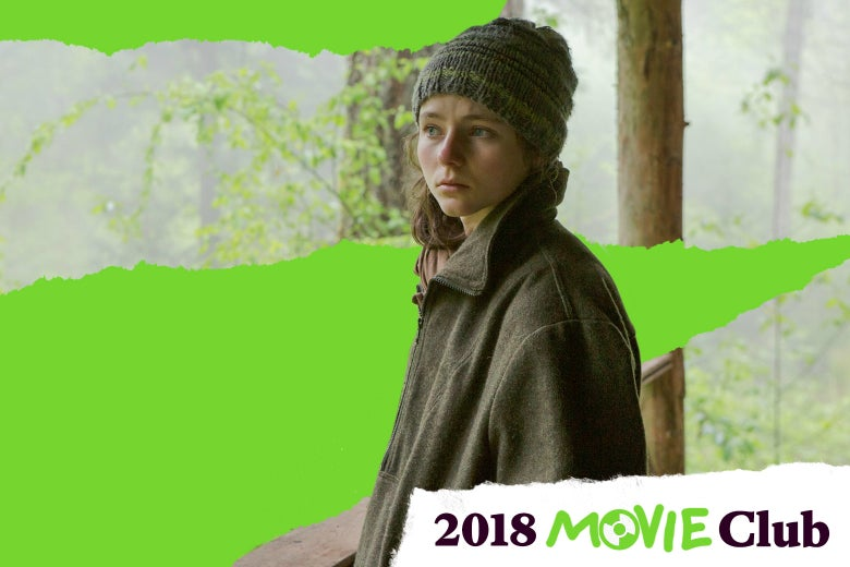 Thomasin Harcourt McKenzie in Leave No Trace.
