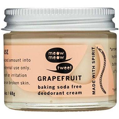 Meow Meow Tweet Grapefruit Deodorant Cream