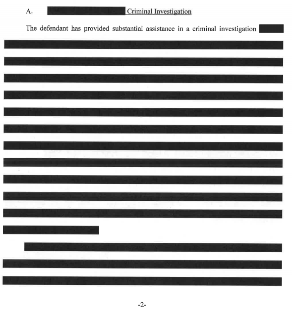 Redacted excerpt from the special counsel's court filing Tuesday.