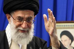 Photograph of Iran's supreme leader Ayatollah Ali Khamenei.