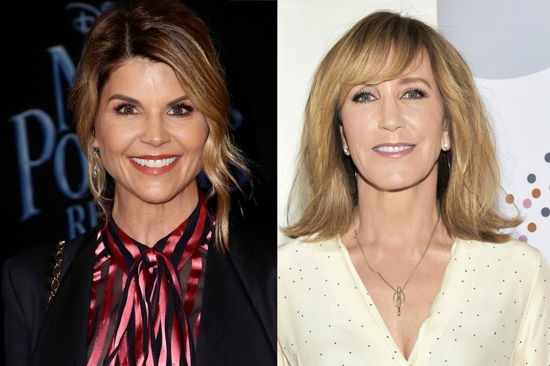 Lori Loughlin and Felicity Huffman photos