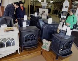 Wood-burning stoves. Click image to expand.