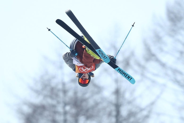 PYEONGCHANG-GUN, SOUTH KOREA - FEBRUARY 22:  David Wise of the United States competes during the Freestyle Skiing Men's Ski Halfpipe Final on day thirteen of the PyeongChang 2018 Winter Olympic Games at Phoenix Snow Park on February 22, 2018 in Pyeongchang-gun, South Korea.  (Photo by Cameron Spencer/Getty Images)