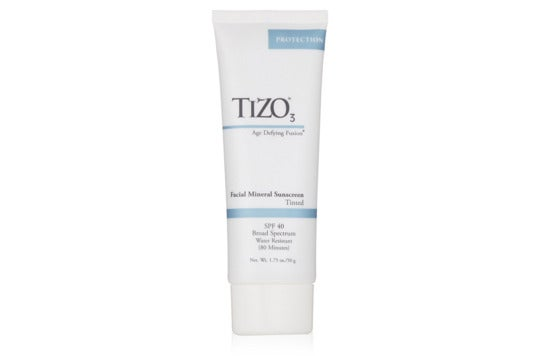 Tizo 3 Tinted Facial Mineral SPF40 Sunscreen.