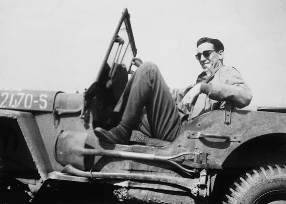 Salinger during the liberation of Paris in 1944