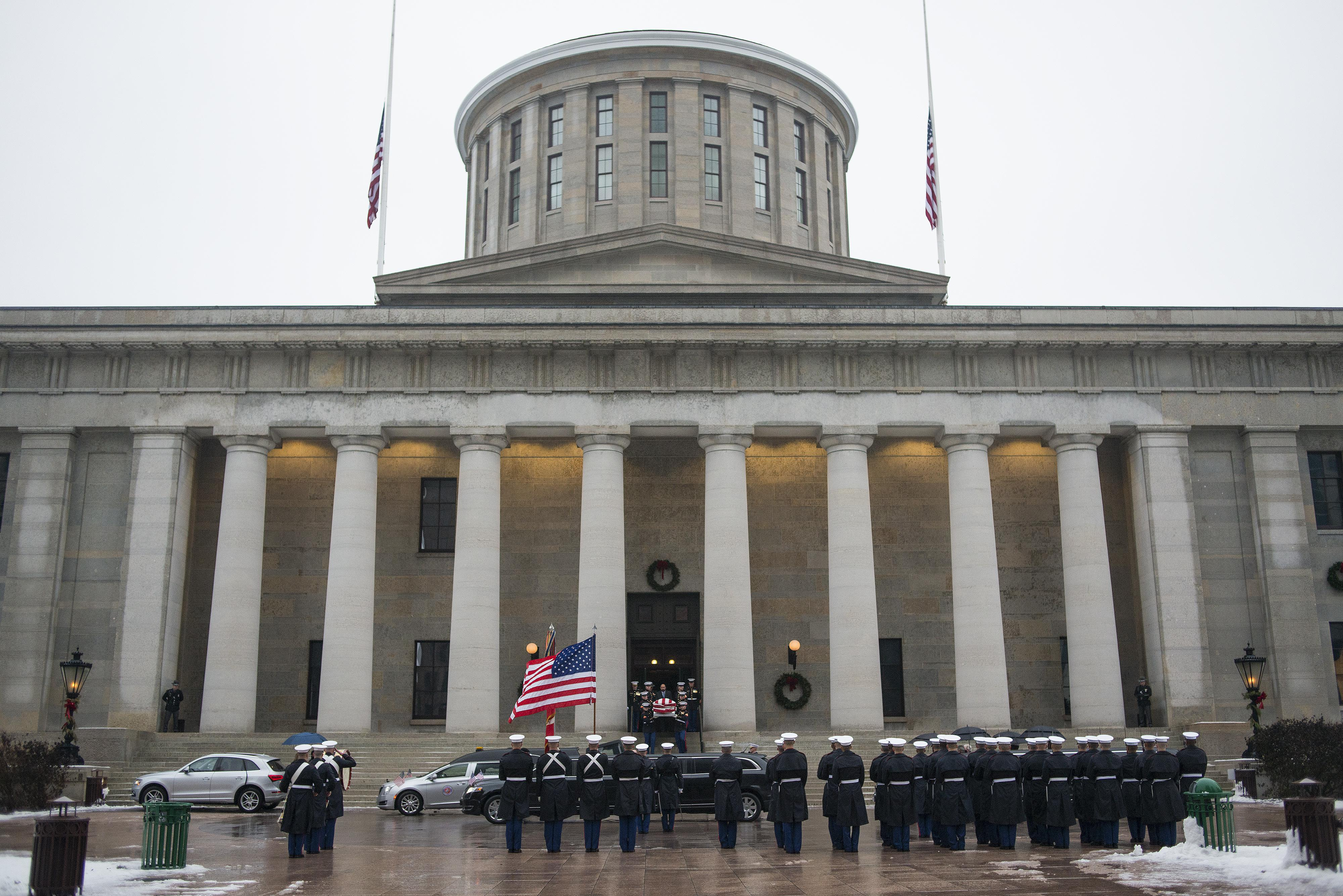 A picture of the Ohio statehouse