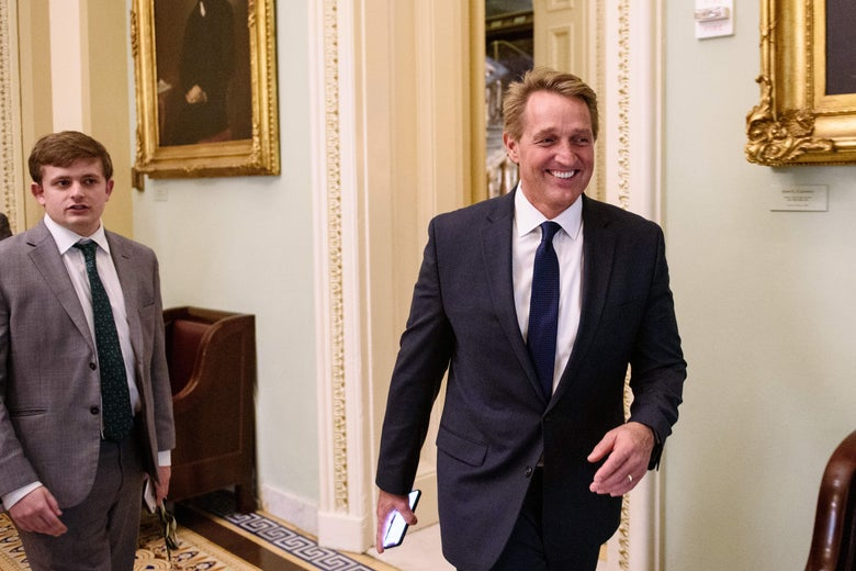 Jeff Flake is seen at the U.S. Capitol in Washington, D.C. on December 13, 2018.