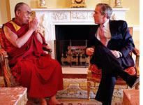 President George W. Bush with the Dalai Lama. Click image to expand.