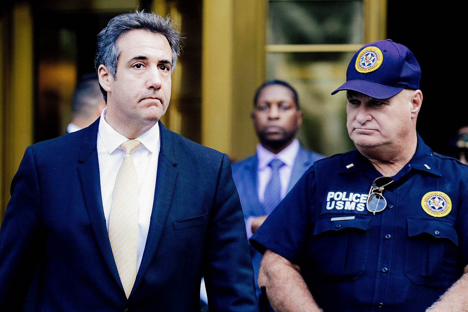 Michael Cohen, former lawyer to U.S. President Donald Trump, exits the Federal Courthouse on August 21, 2018 in New York City.