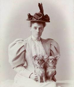 Author Edith Wharton, at Newport, Rhode Island, around 1889-1890.